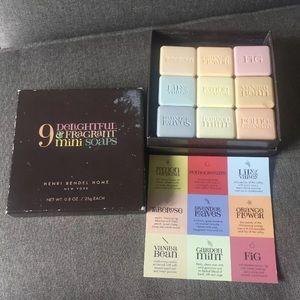 Henri Bendel variety mini-soaps